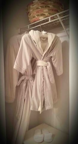 NEW Plush, luxury spa robes. This exclusive spa robe for your sumptuous use. Additional charge