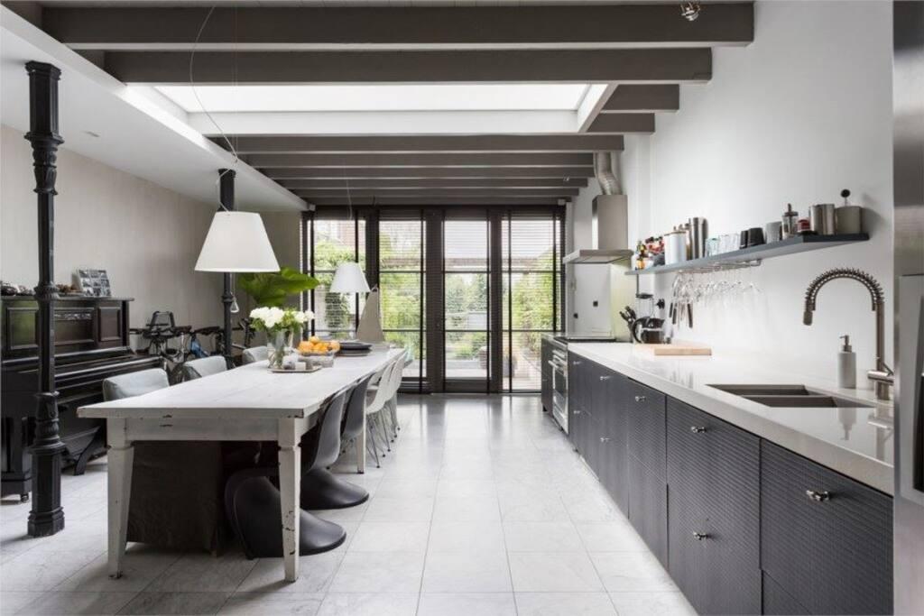 Kitchen view to garden