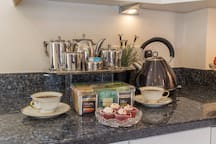 COMPLIMENTARY TWININGS TEA.  Large selection of black, green & herbal blends.