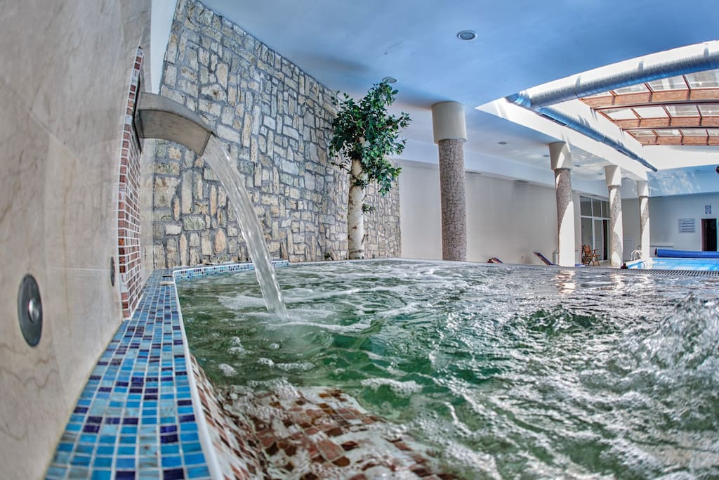 Release all stress and tension in the Hot Tub