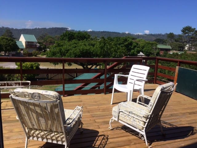 View from deck off living area