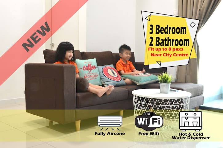 【EcoWoodz】 Cozy 3 room, KLCC View