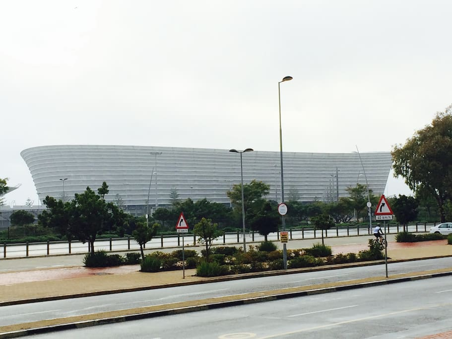 Our neighbour, the Cape Town Stadium, that was built for the World Cup in SA.