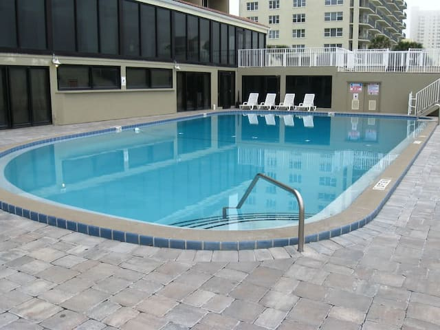 Come enjoy a cool refreshing dip in the super-sized pool.