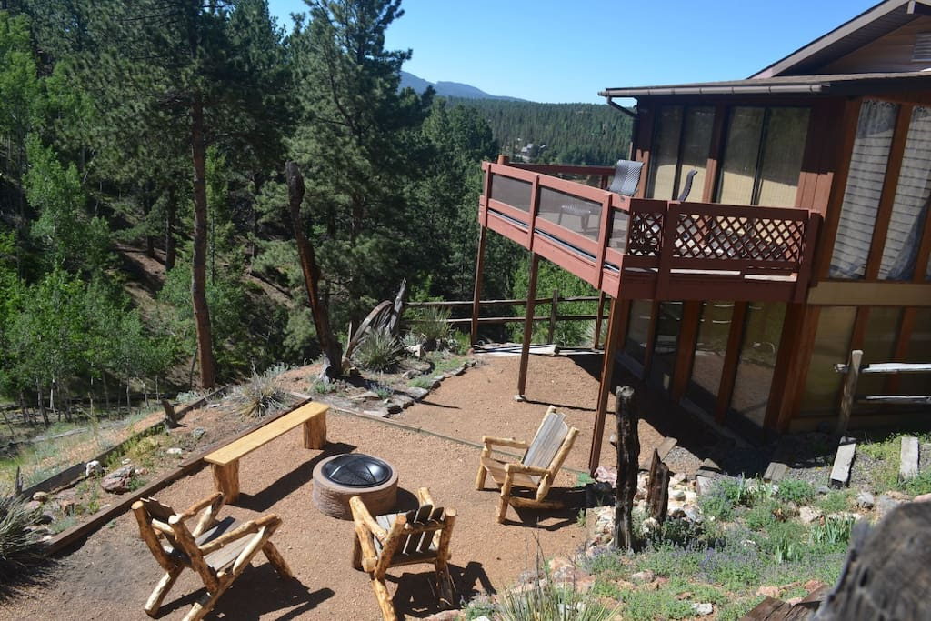 Hang out outside on the deck or near the fire pit.