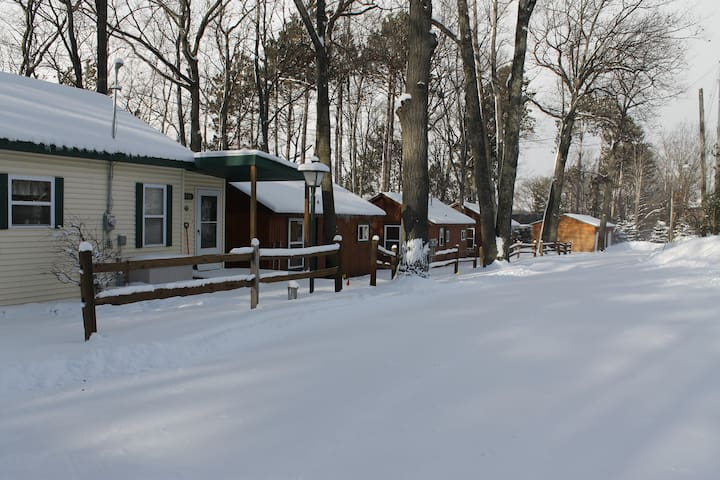 Cabin 1 is spacious and cozy