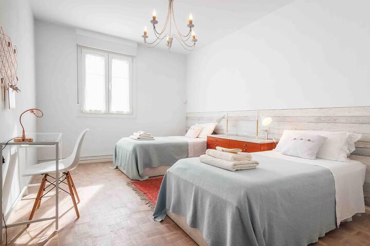 Habitación n.3. Dos camas de 0,90