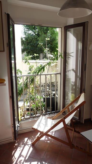 La fenêtre de la cuisine.