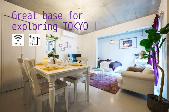 #2mins JR from Tokyo Station/Free WIFI/Monthly let