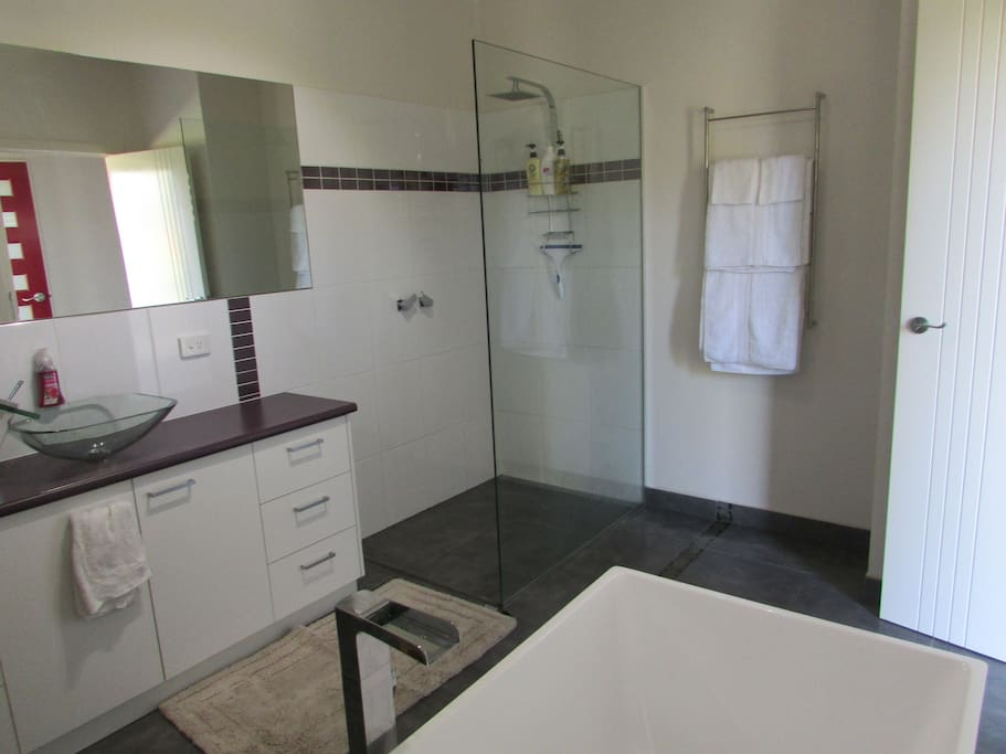 Large Guests only Bathroom with Large shower and Bath