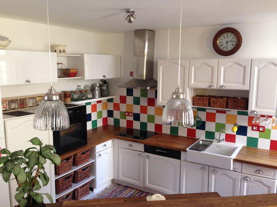 cuisine ouverte accès terrasse