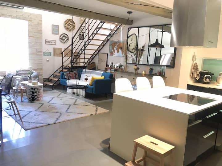 Duplex atypique au cœur de St-Cyprien
