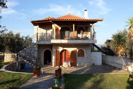 A stone house in the country, Magoula, Eretria