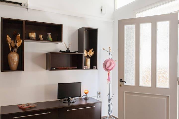 Main door and TV table