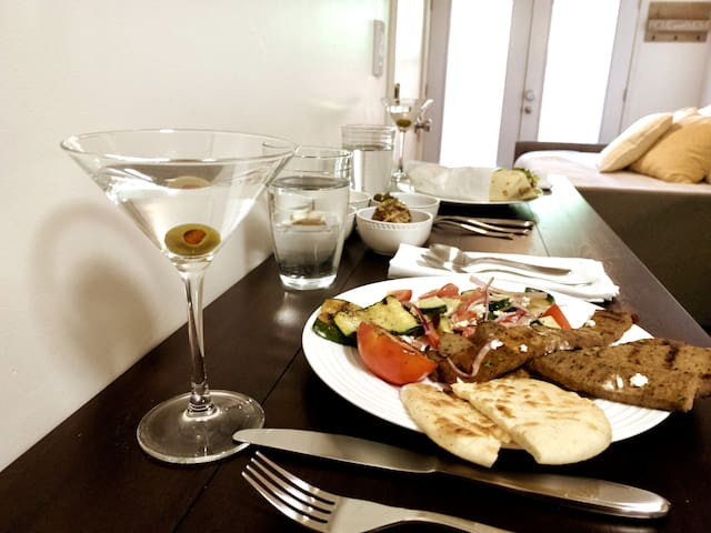 Enjoy our many downtown eateries to go (pictured here is Troy Greek cuisine)