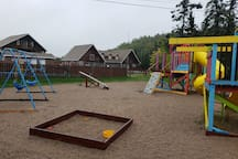 Playground with East-Wing in the background