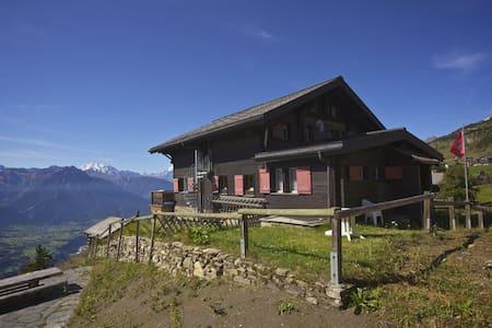 Vue splendide sur les Alpes, Cervin - Riederalp - Almhütte
