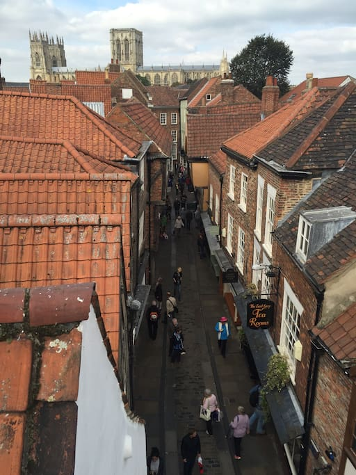 View towards the Minster with Shambles below.