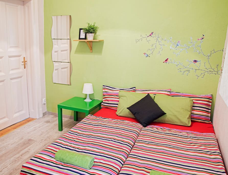 ROOM 1: Small and compact room (beds can be used as double or twin)