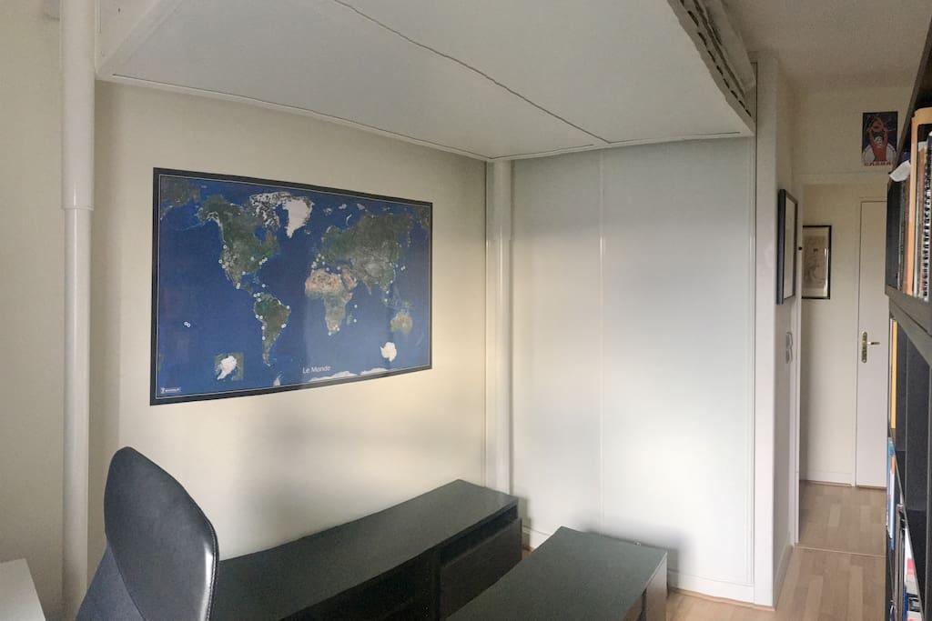 Chambre 2 en mode Bureau