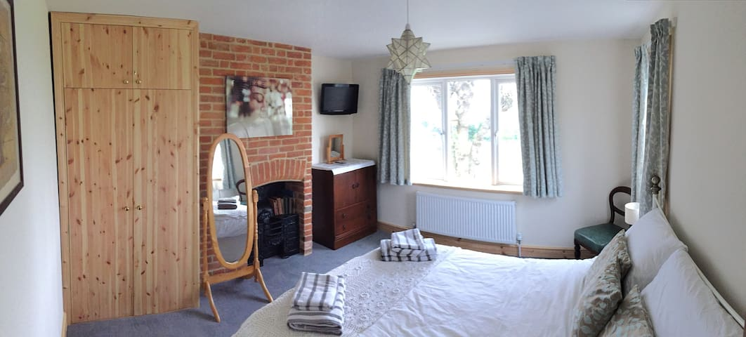 Main double bedroom with beautiful countryside views