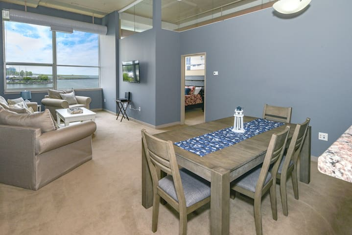 Enjoy the lake from your living room and master bedroom.