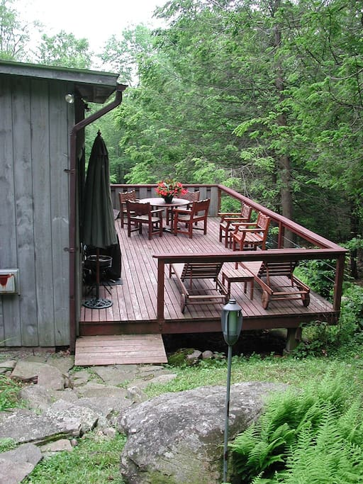 large private outdoor deck
