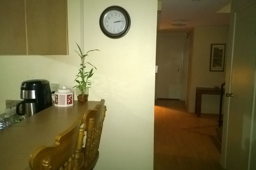 The Bedroom/Office is located just off the entry way and kitchen area on the first floor for those quick get aways