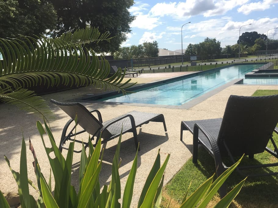 Catch some rays at the free community pool.