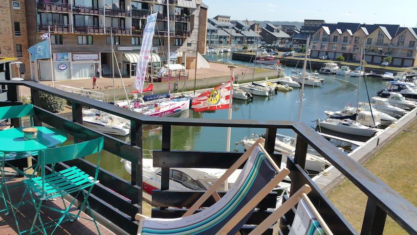 Triplex Marina Deauville Balcon vue bassin et mer
