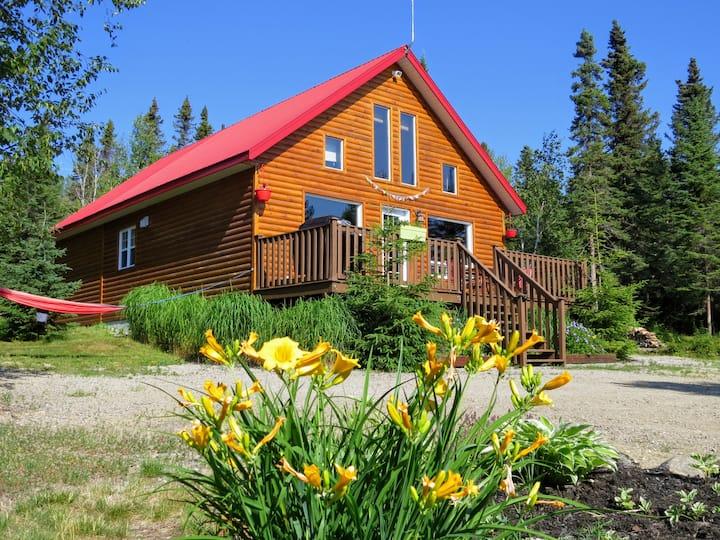 Le  refuge du Caribois au Massif de Charlevoix