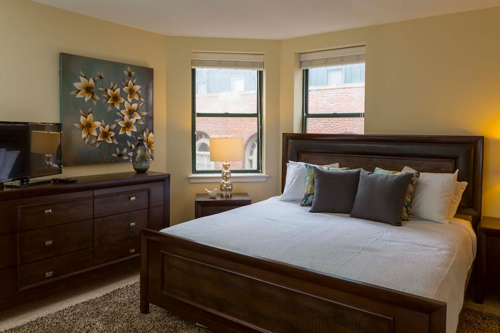 Bedroom at The Garrison Square by Stay Alfred
