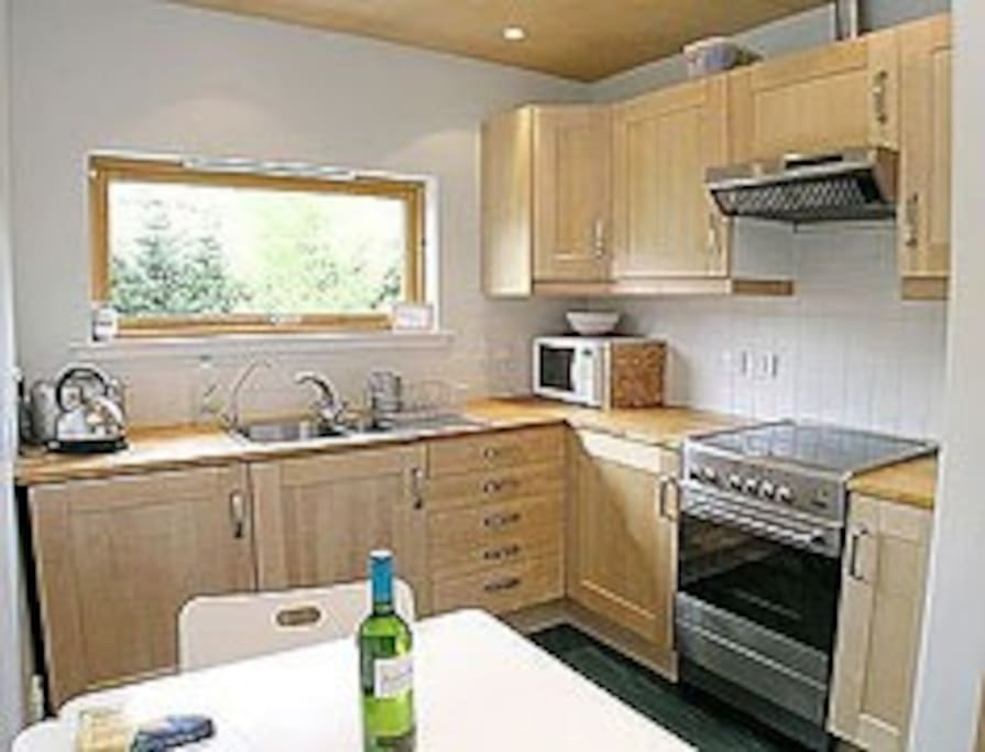 Well equipped modern kitchen.