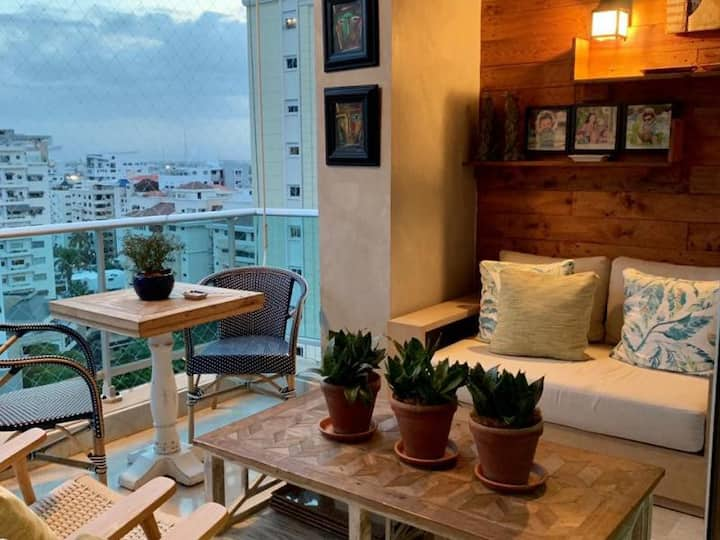 Apartamento en Torre con Piscina y Jacuzzi