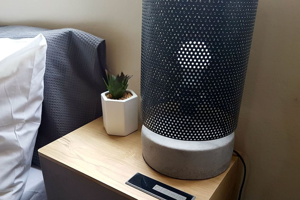 functional bluetooth side table for nights when you wish to just curl up in bed and listen to your fav music. this side table doubles as a bluetooth speaker