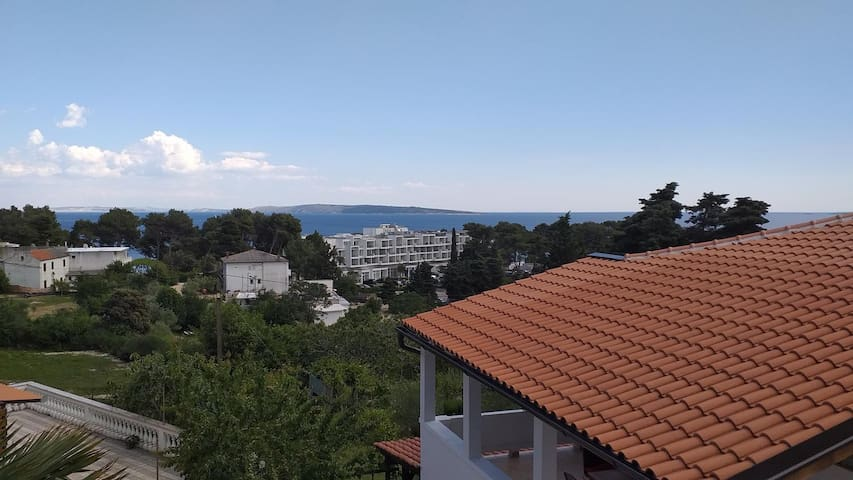 Two bedroom apartment with terrace and sea view Suha Punta (Rab) (A-17239-b)