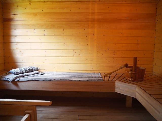 Sauna in main building