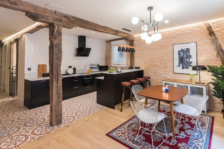 Apartamento de carácter farmhouse moderno by SAH