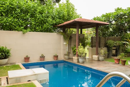 Tatvam Villa- Private pool Home - Gurgaon