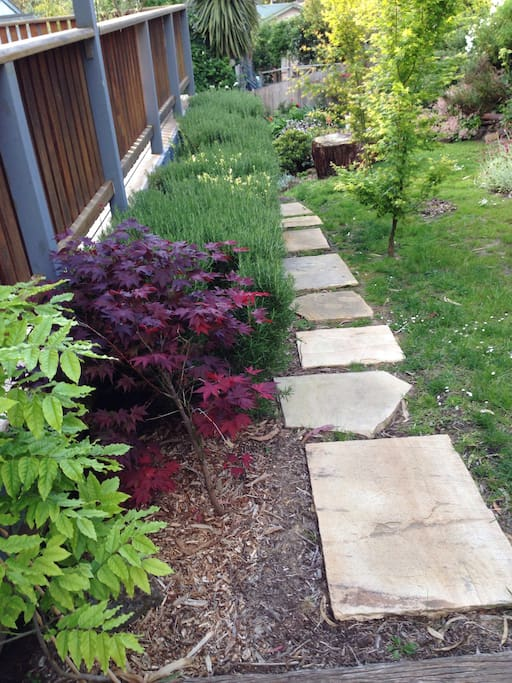 Follow the sandstone path to studio