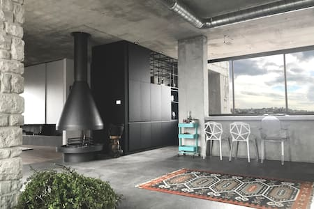 Industrial-style Designer Penthouse
