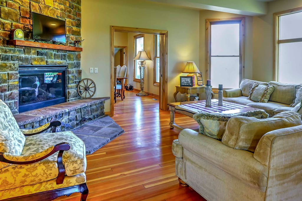 Inside, the home boasts 5,500 square feet of tastefully appointed living space and accommodations for 12 lucky guests.