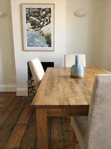 Front room and dining table