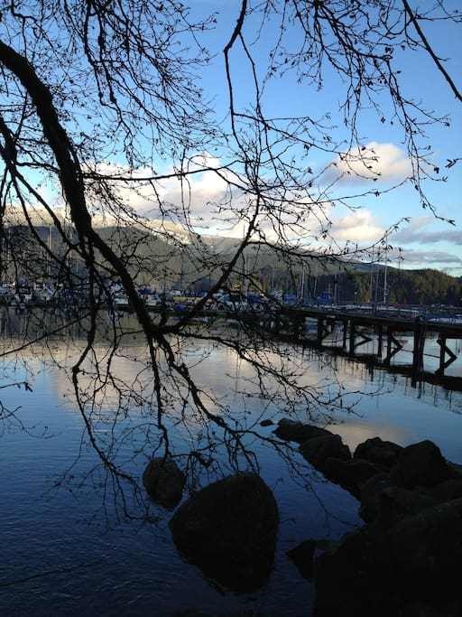 Deep Cove is a ten minute walk, shops, restaurants and an amazing view.