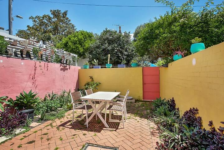 Sunny courtyard