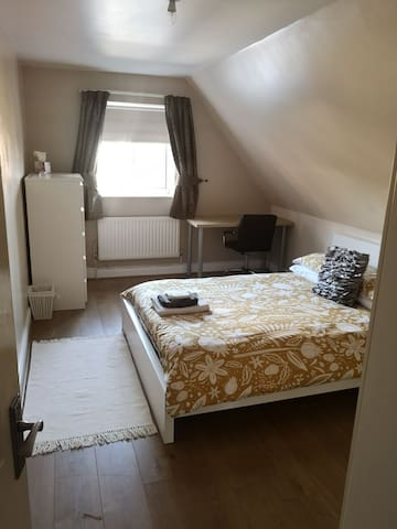 The Cwtch. A spacious, cosy room in modern house.