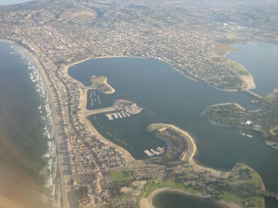 Arial shot of Mission Bay