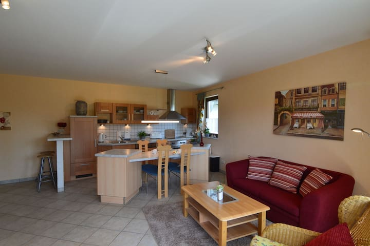 Cushy Apartment in Nohn with Terrace, Garden, BBQ, Heating