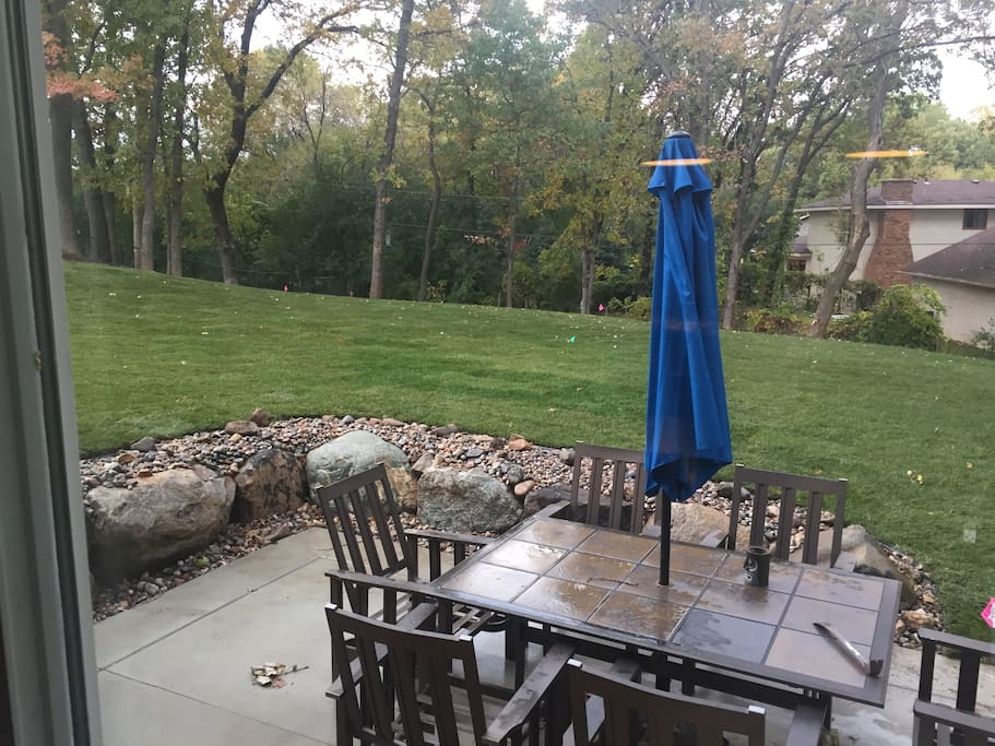 Beautiful fenced private backyard - new fire pit not pictured.