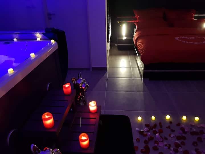 voyage d une nuit chambre romantique bouc bel air